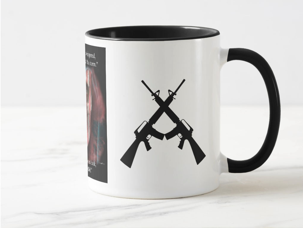 right view of the I Am The Storm coffee Mug